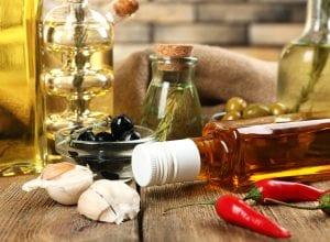 Aceites para cocinar y el aceite de oliva en la cocina