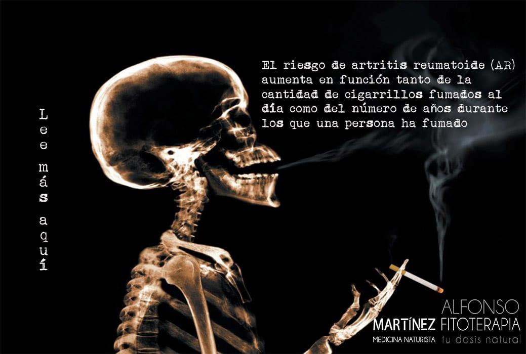 fumar y el riesgo de Artritis reumatoide