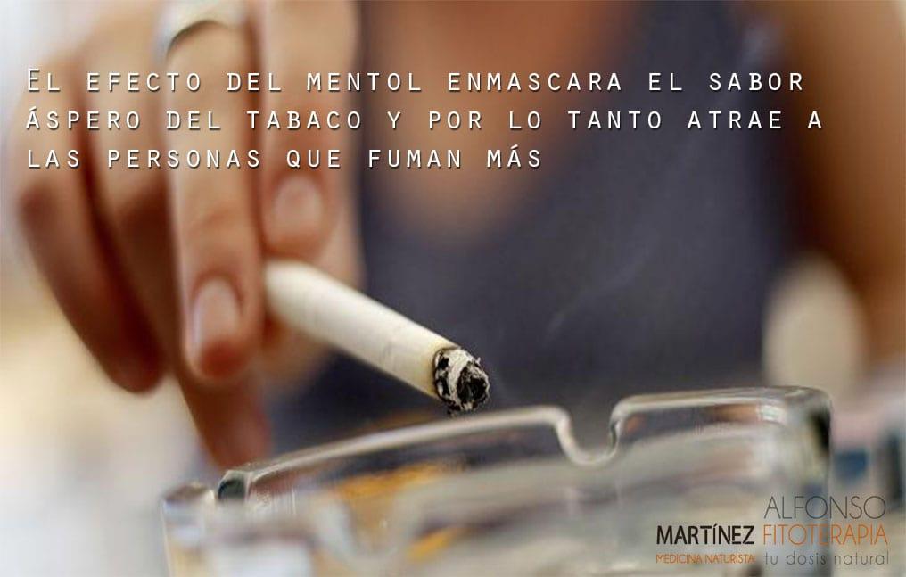 El tabaco es adictivo, mentolado es peor