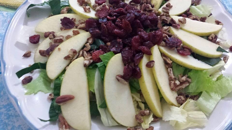 ensalada de manzana vegetariana