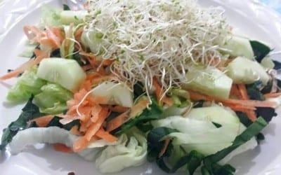ensalada y germinado