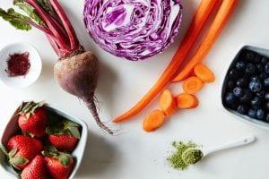 Antioxidantes por colores