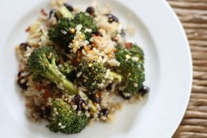 Brócoli con patatas y quinoa