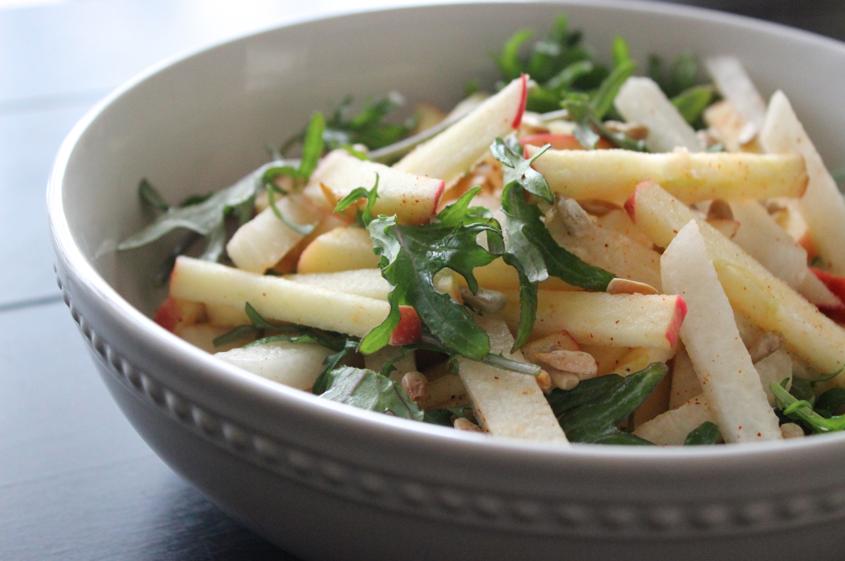 Ensalada de manzana y verduras