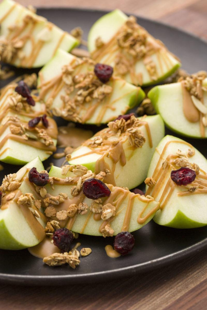 Snacks con manzanas