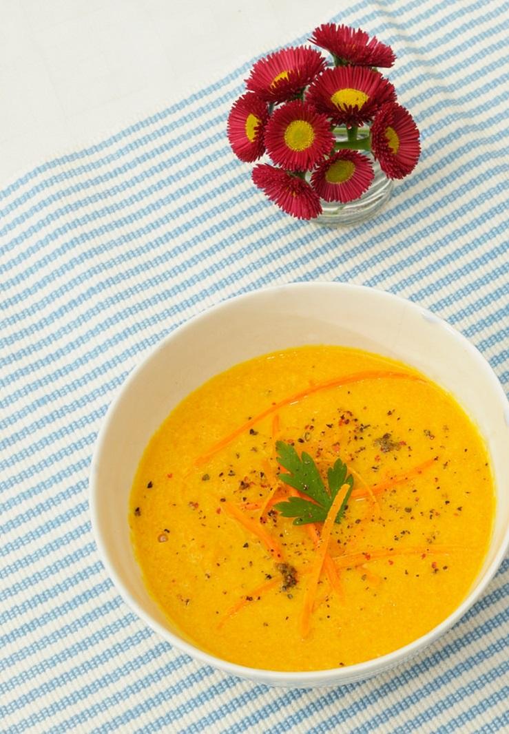 Sopa de zanahoria y avena