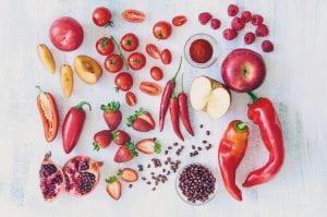 Alimentos rojos