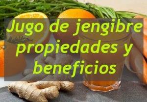 jugo de jengibre con naranja