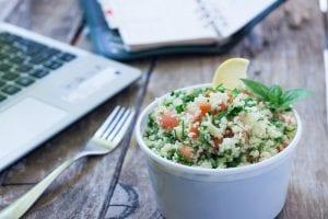 Comida saludable en el trabajo